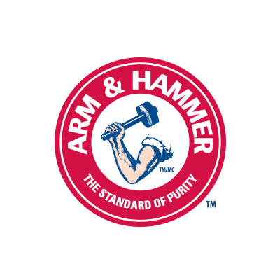 More information about Arm & Hammer. Arm & Hammer logo.