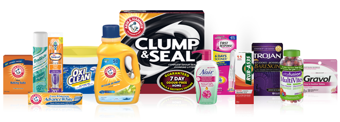 The Church & Dwight family of brands; including Gravol, Arm and Hammer, Trojan, Oxi-clean, Rub A535 and more.